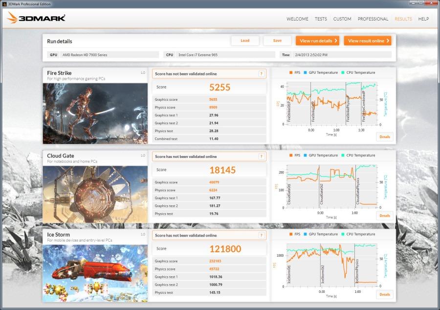 Скриншот 3DMark