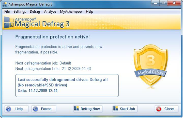 Скриншот Ashampoo Magical Defrag