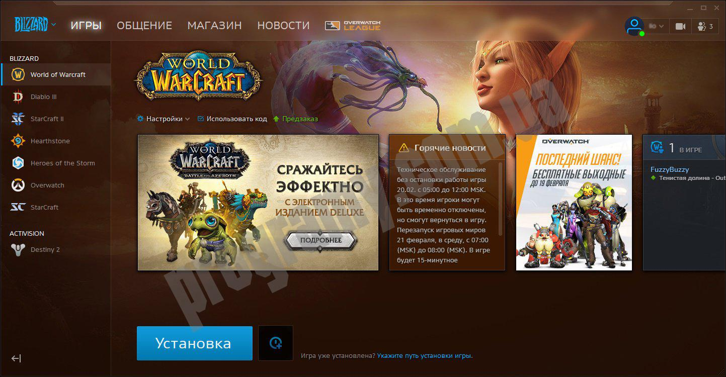 Скриншот Battle.net