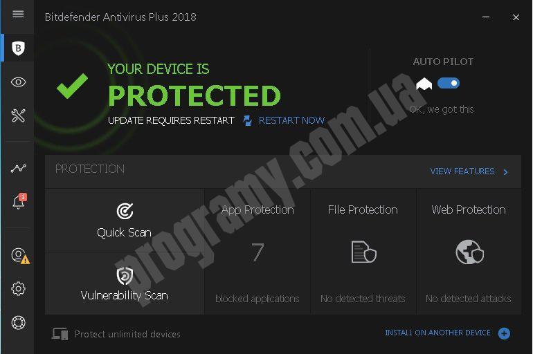 Скриншот Bitdefender Antivirus Plus