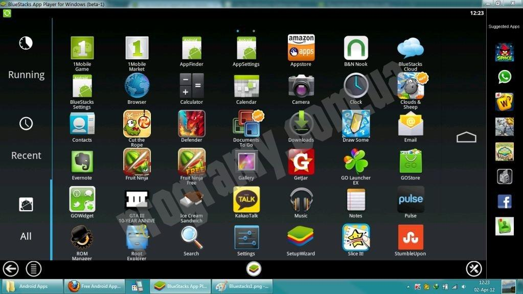 Скриншот BlueStacks App Player