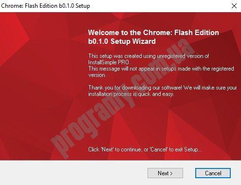 Скриншот Chrome Flash Edition