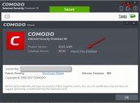 Скриншот Comodo Antivirus Database
