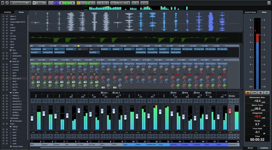 Скриншот Cubase Pro