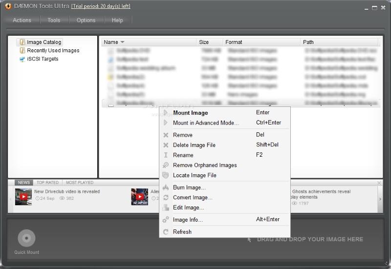 Скриншот DAEMON Tools Ultra