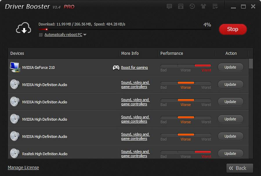 Скриншот Driver Booster Pro