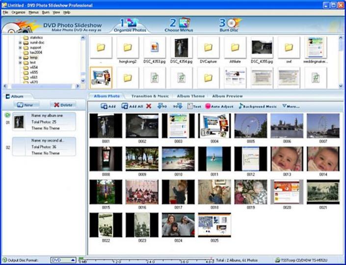 Скриншот DVD Photo Slideshow