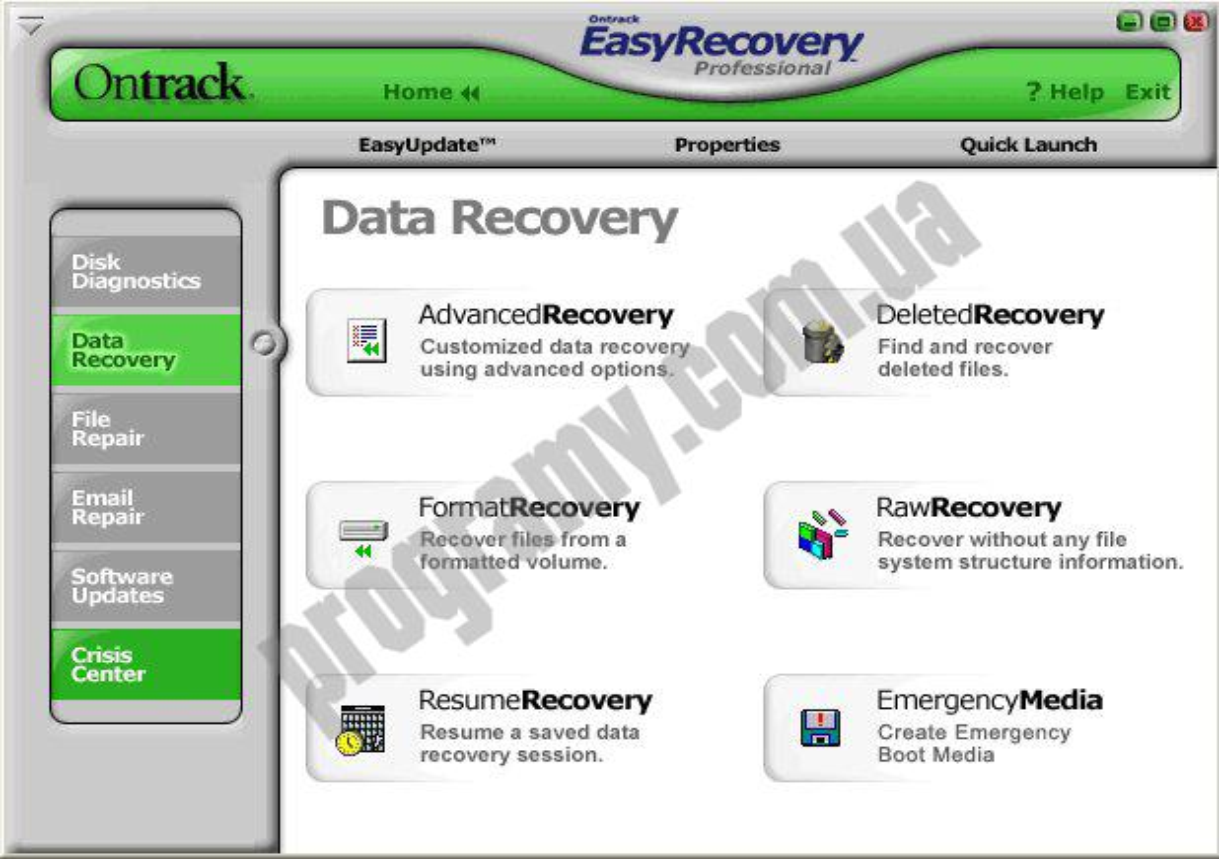 Скриншот Ontrack EasyRecovery