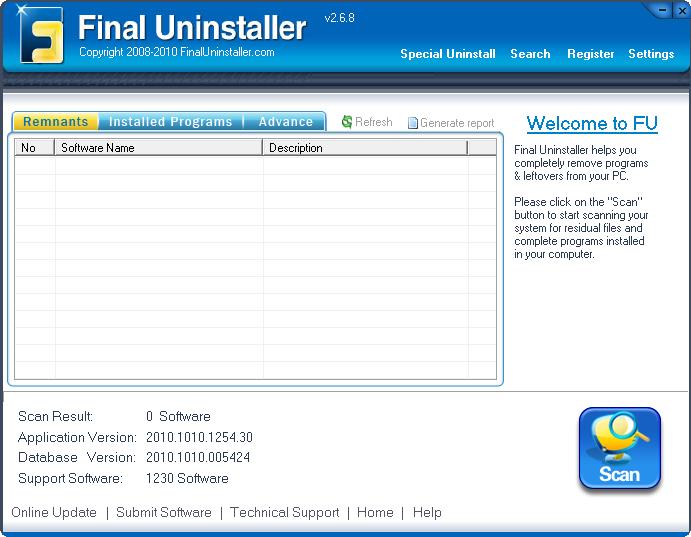 Скриншот Final Uninstaller