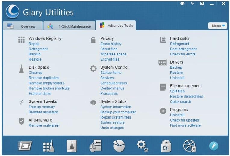 Скриншот Glary Utilities
