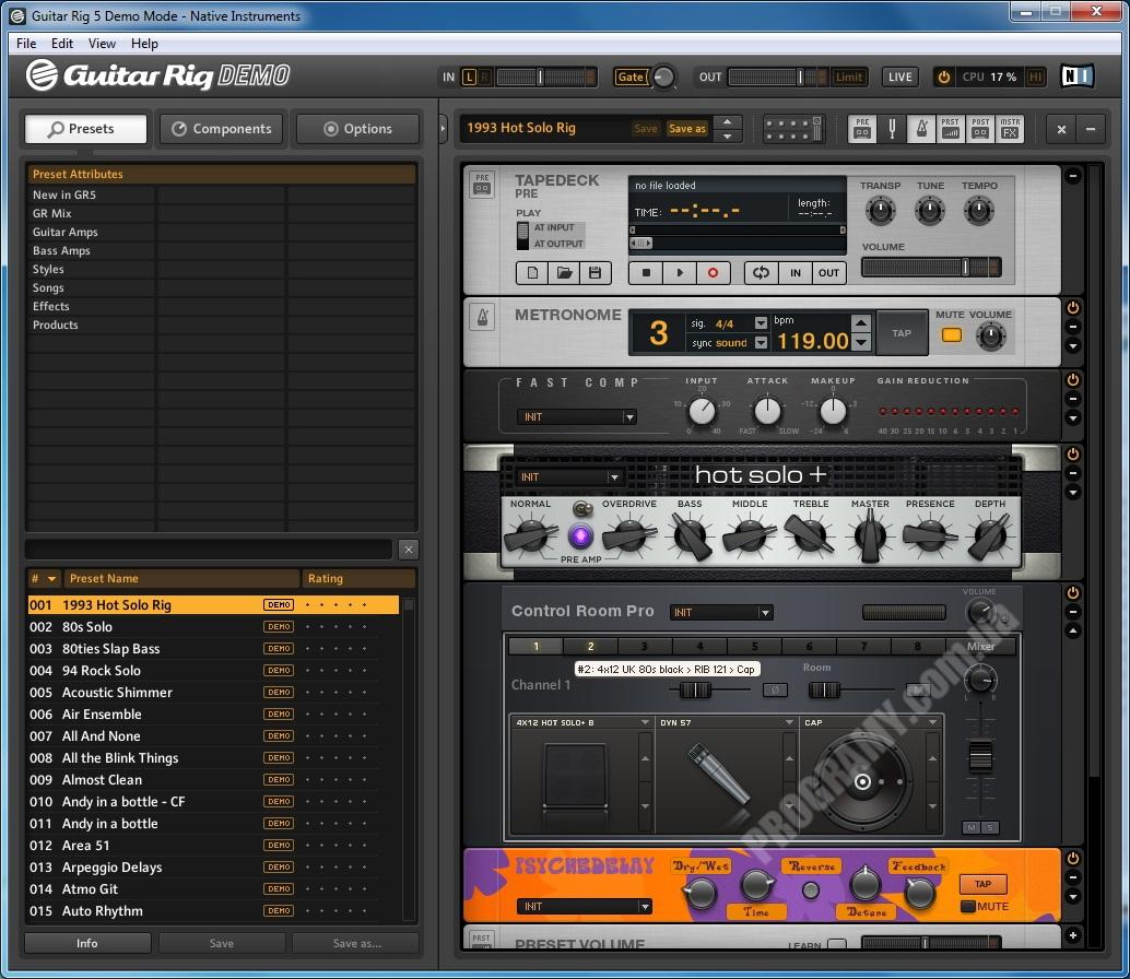 Скриншот GUITAR RIG