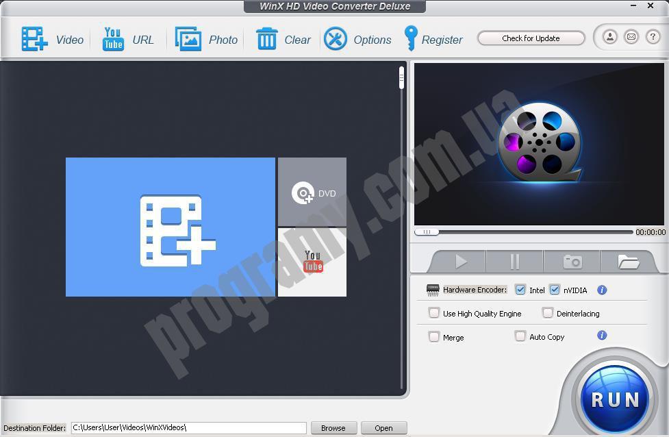 Скриншот Winx HD Video Converter Deluxe