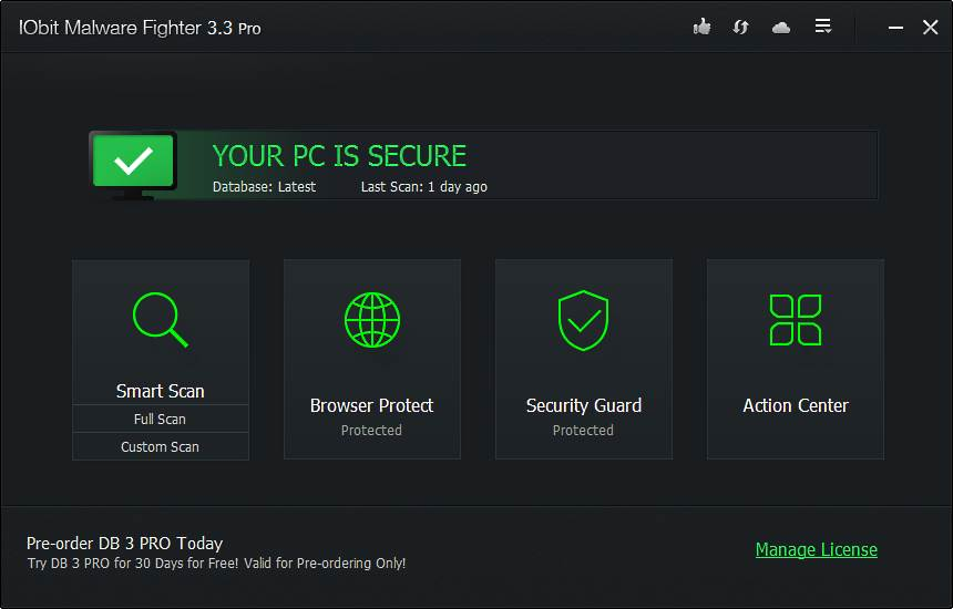 Скриншот IObit Malware Fighter PRO