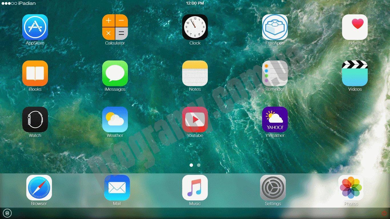 Скриншот iPadian