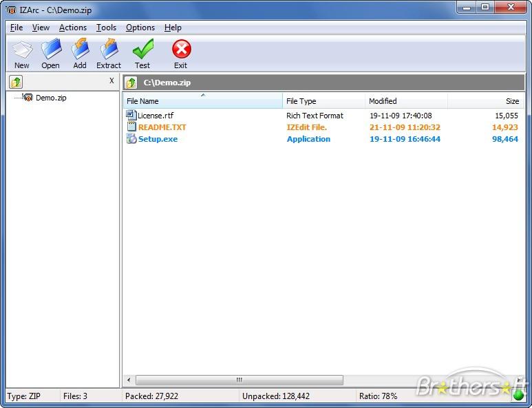 Скриншот IZArc