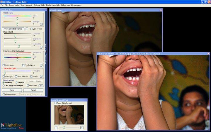 Скриншот LightBox Free Image Editor