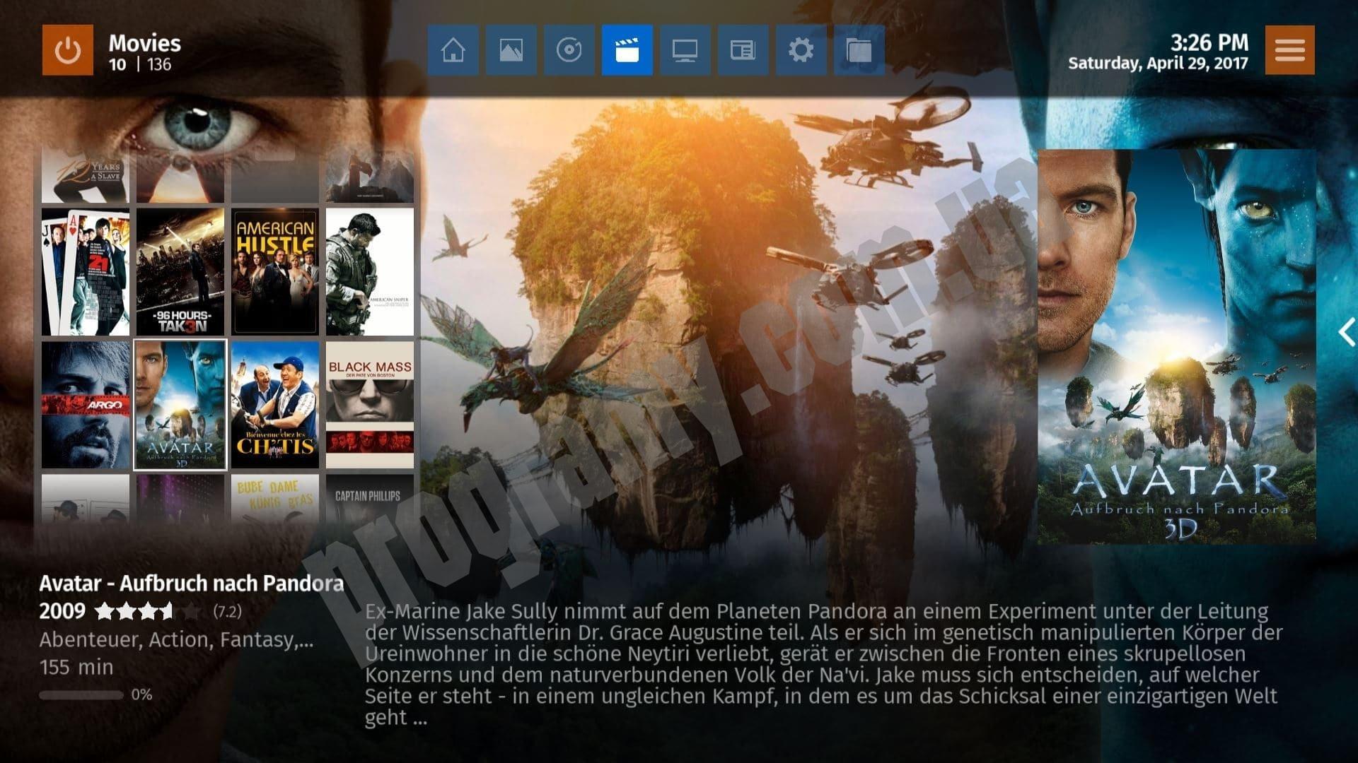 Скриншот MediaPortal 2