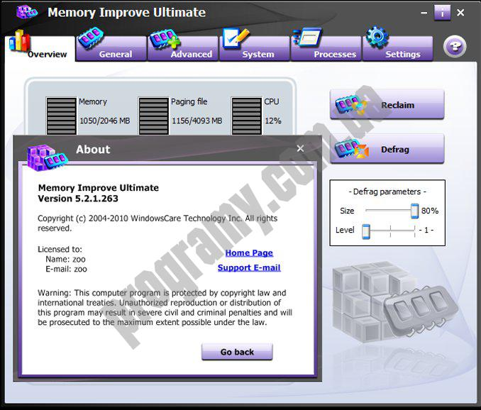 Скриншот Memory Improve