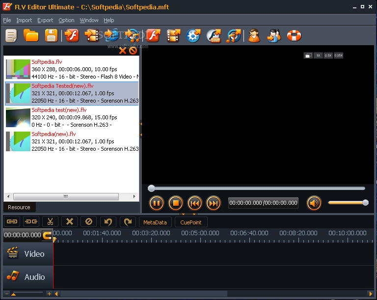 Скриншот Moyea FLV Editor