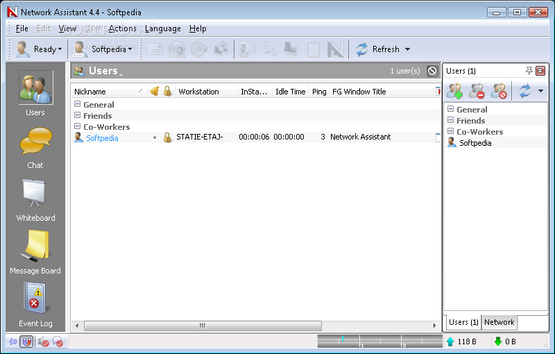 Скриншот Network Assistant
