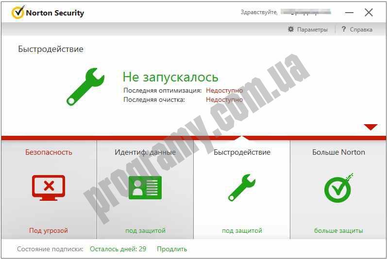 Скриншот Norton Security