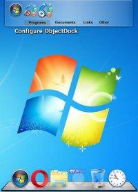 Скриншот ObjectDock