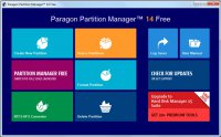 Скриншот Paragon Partition Manager Free