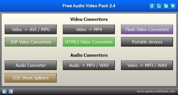 Скриншот Pazera Free Audio Video Pack