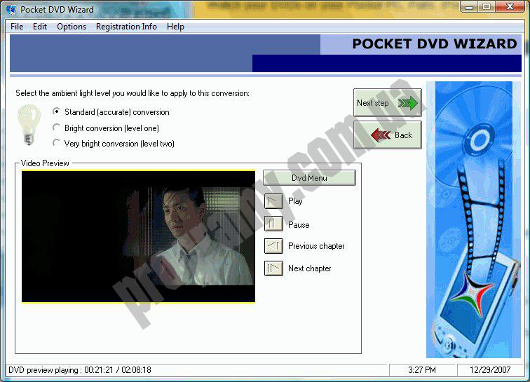 Скриншот Pocket DVD Wizard