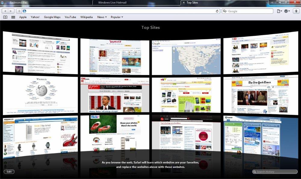 Скриншот Safari