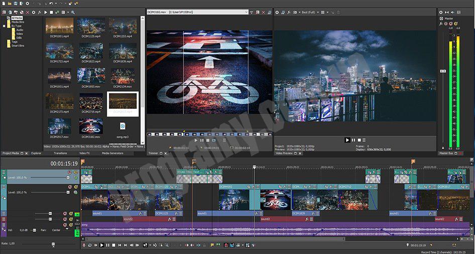 Скриншот Vegas Pro