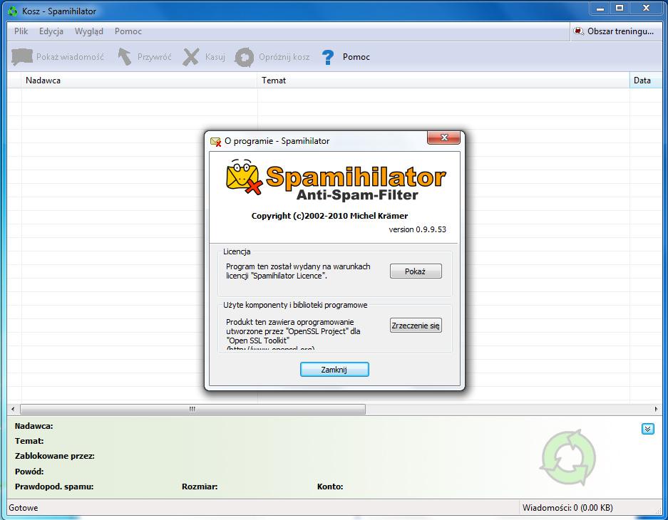 Скриншот Spamihilator