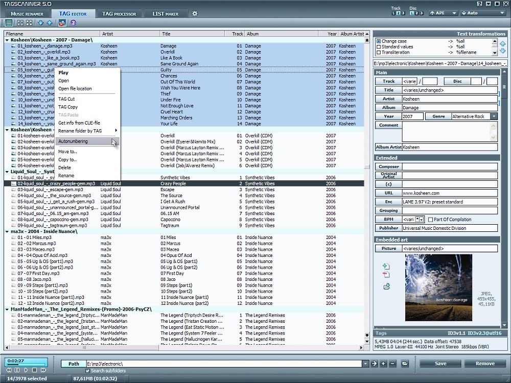 Скриншот TagScanner