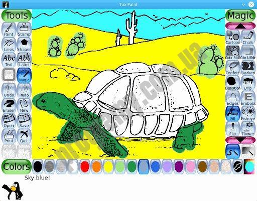 Скриншот Tux Paint