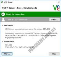Скриншот VNC Connect
