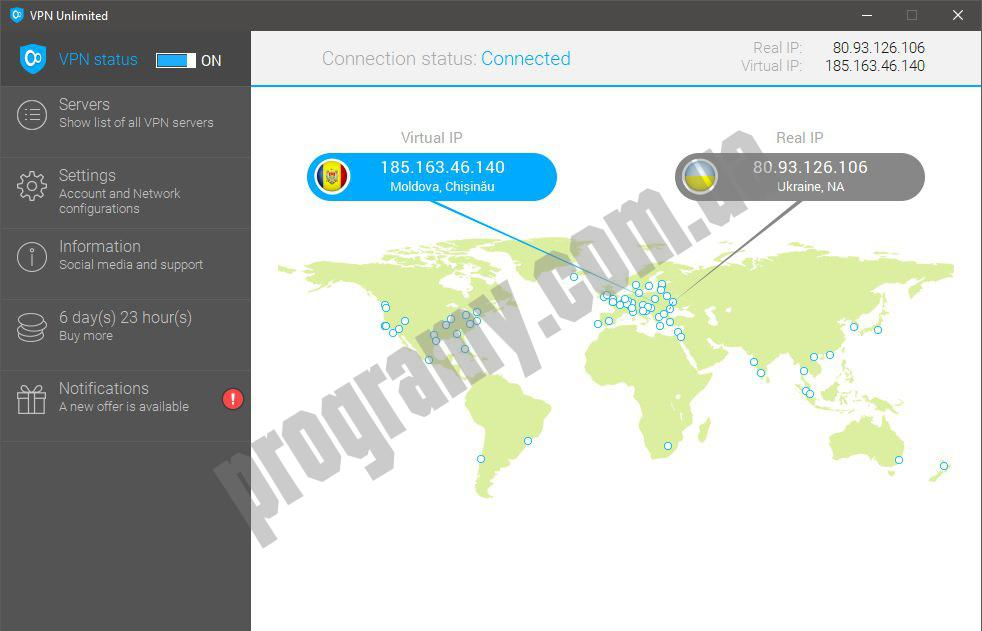 Скриншот KeepSolid VPN Unlimited