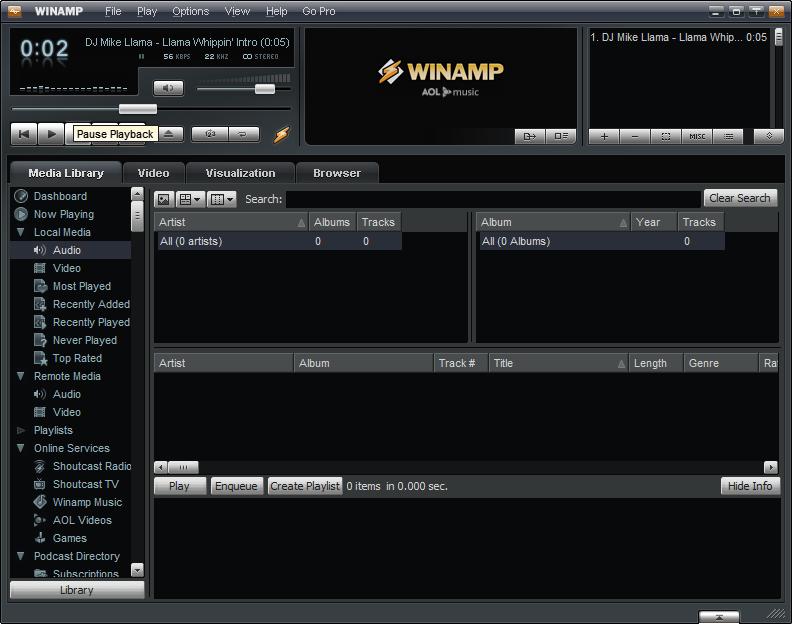 Скриншот Winamp