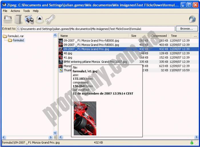Скриншот Zipeg