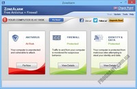 Скриншот ZoneAlarm Free Antivirus + Firewall